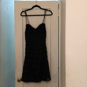 Betsey Johnson size 8 black lace strappy dress
